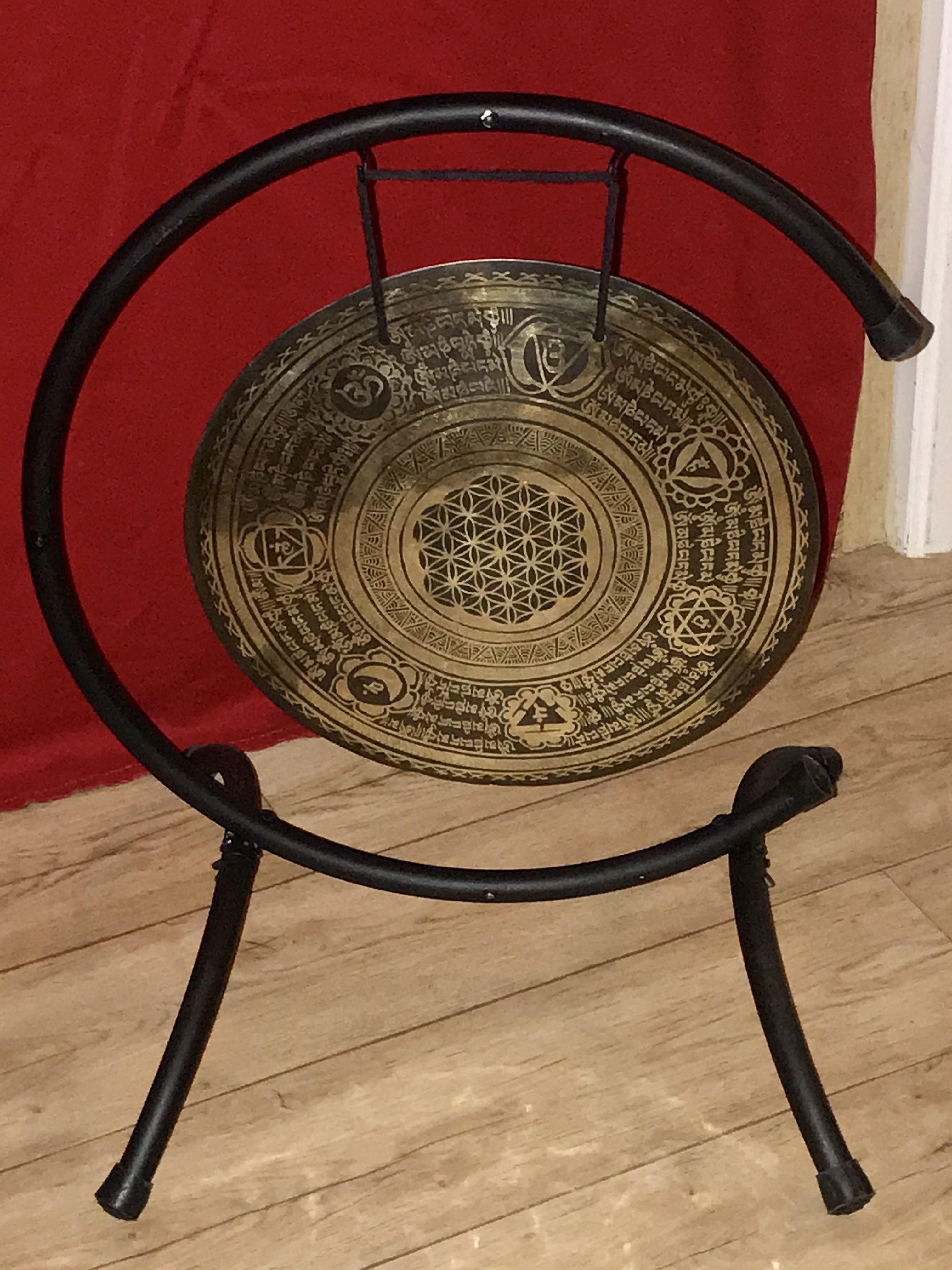 Gong chakras et fleur de vie